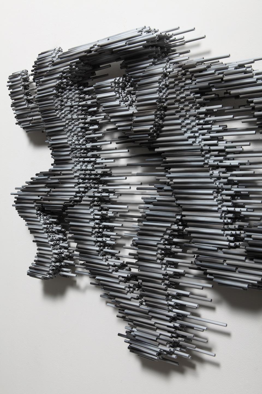 00ː00ː00ː00 Ⅱ  _ 150cm × 9cm × 150cm _ pvc pipe, urethane paint _ 2013
