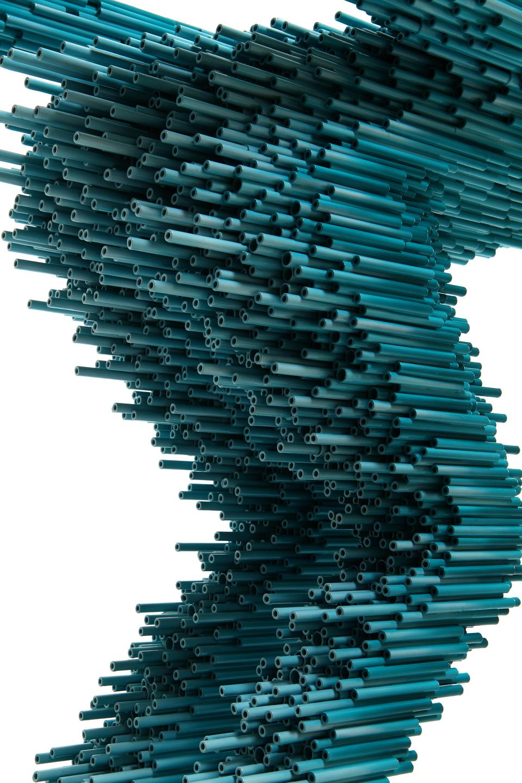 00ː00ː00ː00 Ⅲ _ 77cm × 31cm × 65cm _ pvc pipe, urethane paint _ 2013