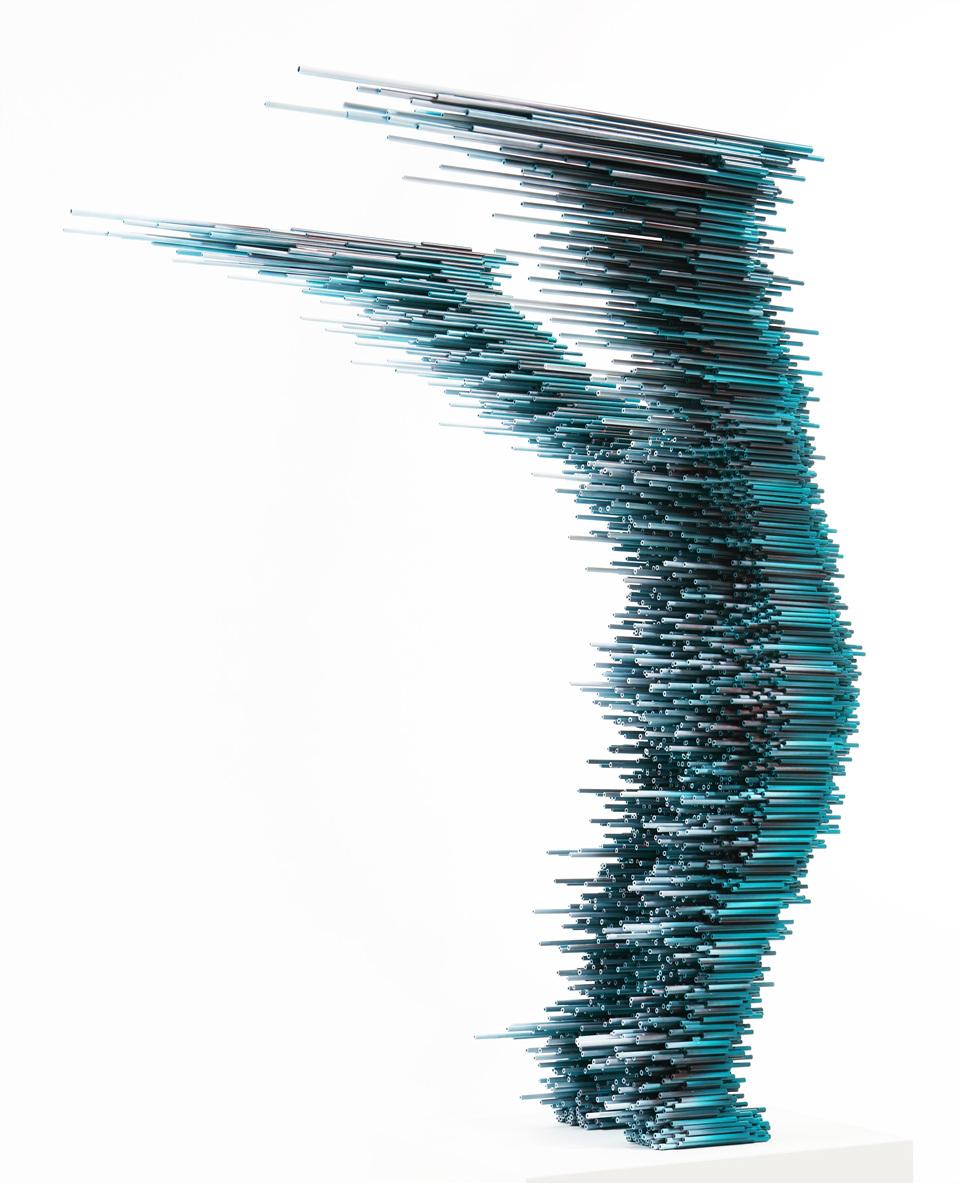 정지된 일상 8885108_ 88cm ×85cm × 108cm _ pvc pipe, urethane paint _ 2018