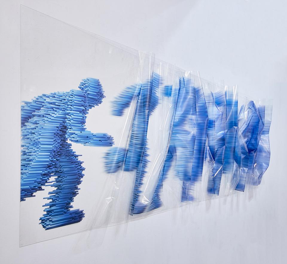 접착 시트지 - 파랑 인체 1